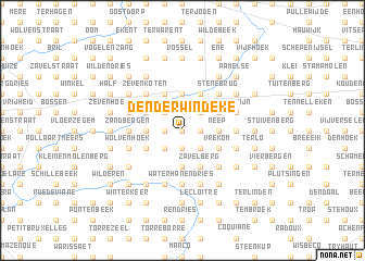 map of Denderwindeke