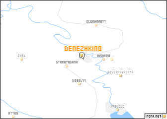 map of Denezhkino