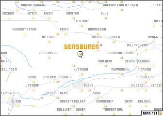 map of Densbüren
