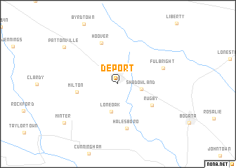 map of Deport