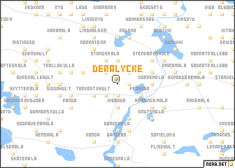 map of Deralycke