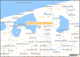 map of Derāzmīr Kandeh