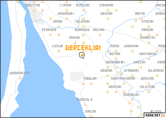 map of Dercekliai