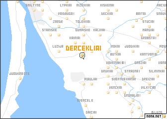 map of Dercekliai