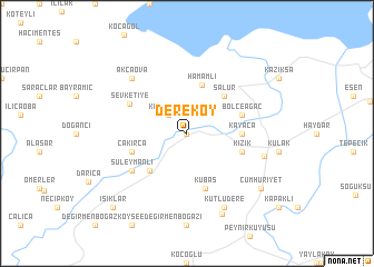 map of Dereköy