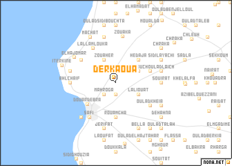 map of Derkaoua