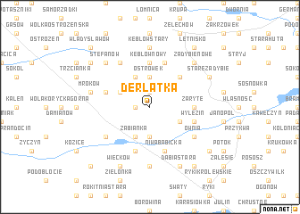 map of Derlatka