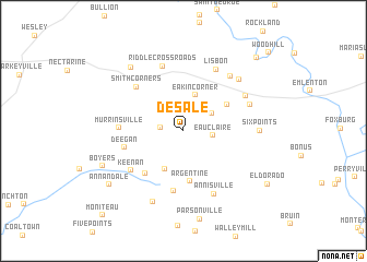map of De Sale