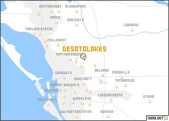 map of Desoto Lakes