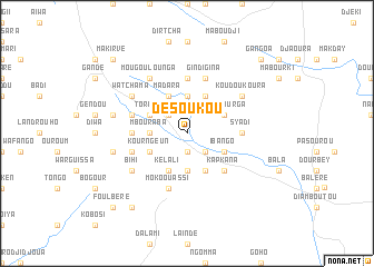 map of Désoukou