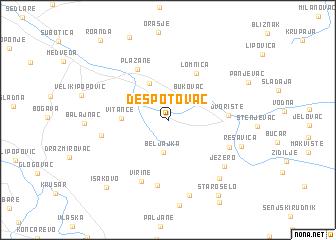 despotovac mapa srbije Despotovac (Serbia and Montenegro) map   nona.net despotovac mapa srbije