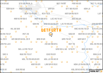 map of Detfurth