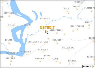 Detroit In Usa Map.Detroit United States Usa Map Nona Net