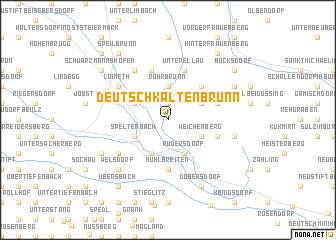 map of Deutsch Kaltenbrunn