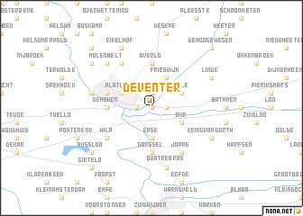 Deventer Netherlands map nonanet