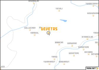 map of Devetaş