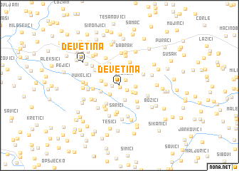 map of Devetina