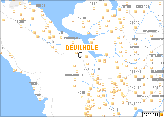 map of Devil Hole