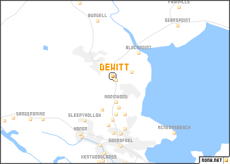 map of Dewitt