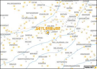 map of Deylam Bījār