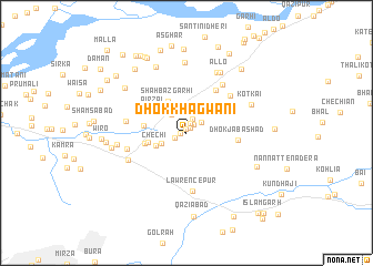 map of Dhok Khagwāni