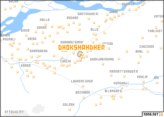map of Dhok Shāh Dher