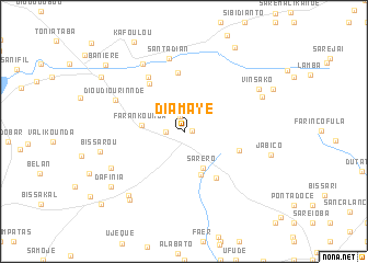 map of Diamaye