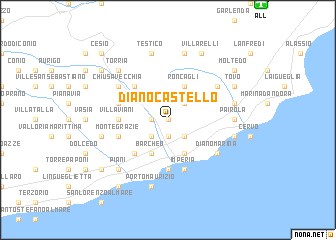 map of Diano Castello