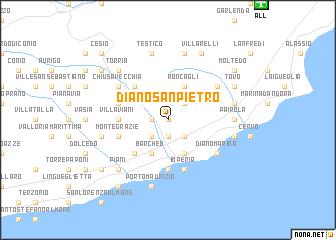 map of Diano San Pietro
