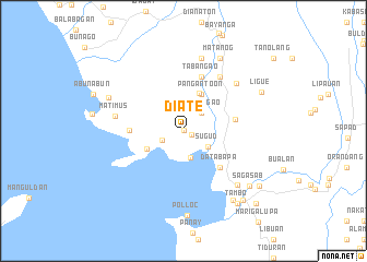 map of Diate