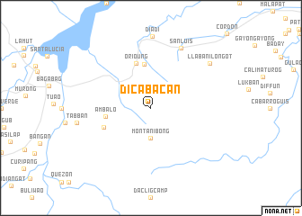 map of Dicabacan