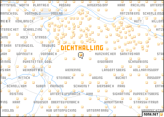 map of Dichthalling