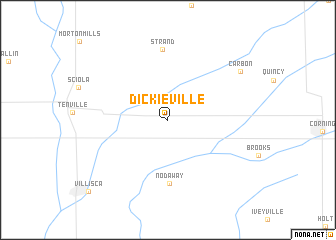 map of Dickieville