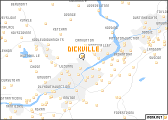 map of Dickville