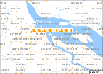 map of Dicree Char Tālbāria