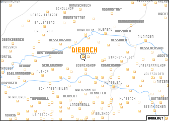 map of Diebach