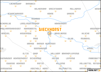map of Dieckhorst