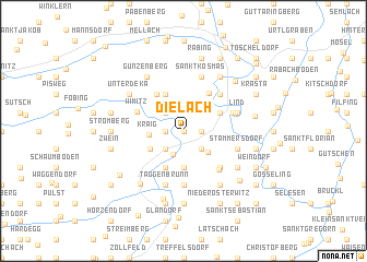 map of Dielach