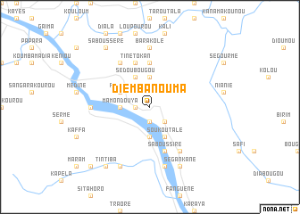 map of Diembanouma