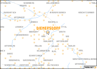map of Diemersdorf