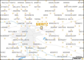 map of Diemitz