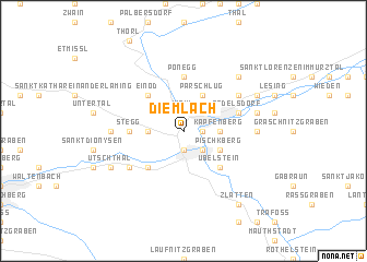 map of Diemlach