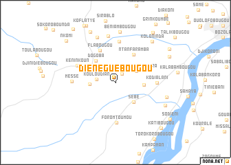 map of Diénéguébougou