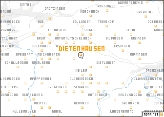 map of Dietenhausen