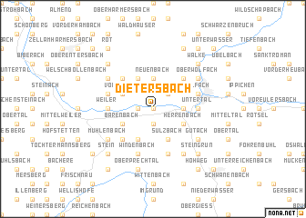 map of Dietersbach