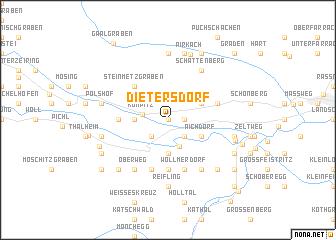 map of Dietersdorf