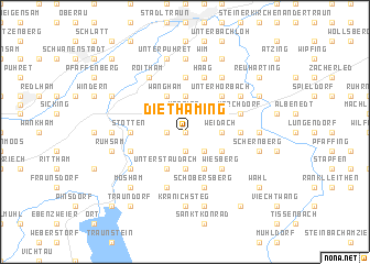 map of Diethaming