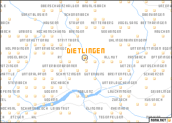 map of Dietlingen