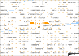 map of Dietraching