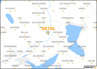 map of Dietwil